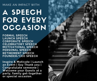 Speech Writing Services - Types of Speeches